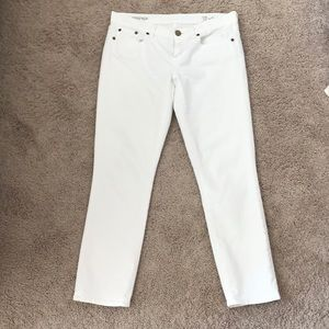 J.Crew white toothpick jeans great condition!